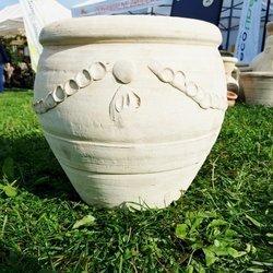 Donica ceramiczna na taras i do ogrodu w stylu greckim, rzymskim, afrykańskim, ręcznie robiona