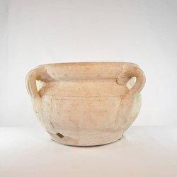 Donica ceramiczna o subtelnym wzorze, boho
