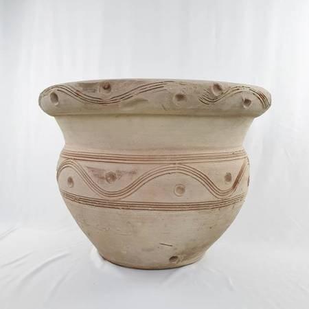 Duża, niska, szeroka, ceramiczna, donica do ogrodu