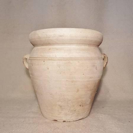 Gładka donica ceramiczna beżowa 30 x 30 do ogrodu